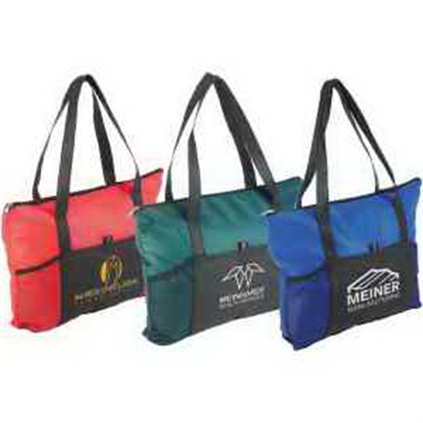 Printed Feather Flight Large Tote Bag