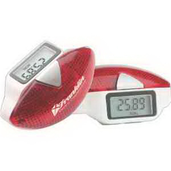 Imprinted Safety Flash Pedometer
