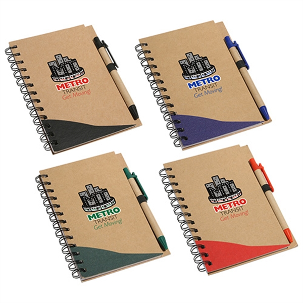 Personalized Recycle Write Notebook & Pen