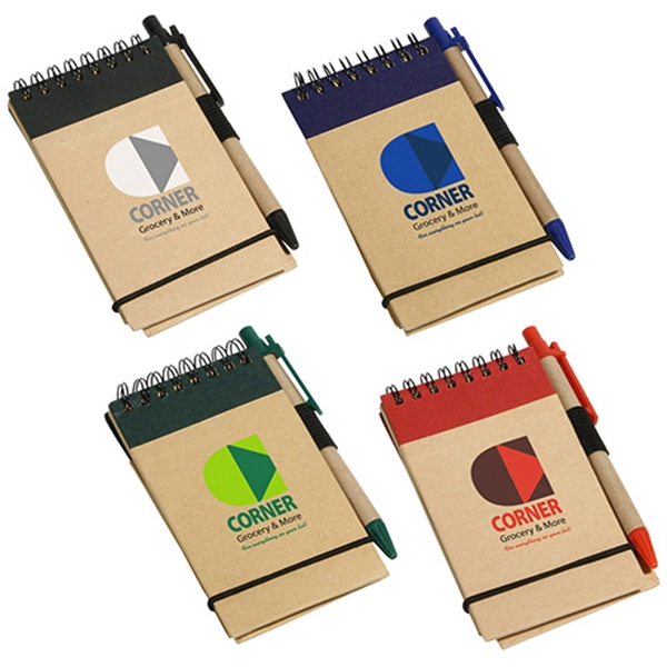 Promotional Think Green Recycled Notepad & Pen