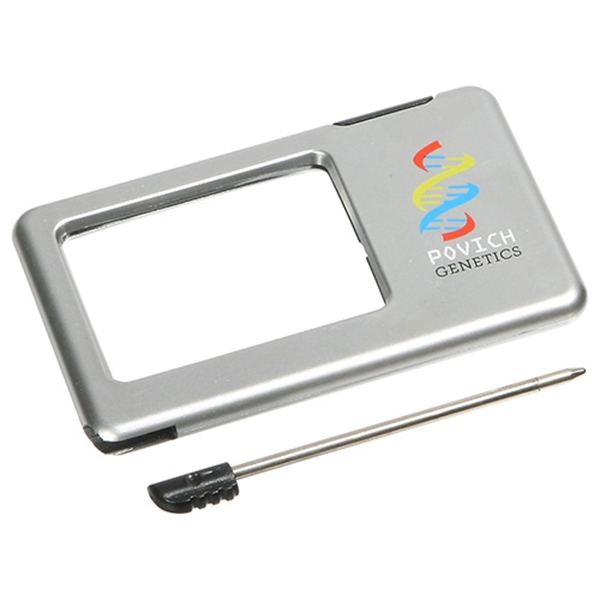 Promotional Silver Thin Light-Up Magnifier