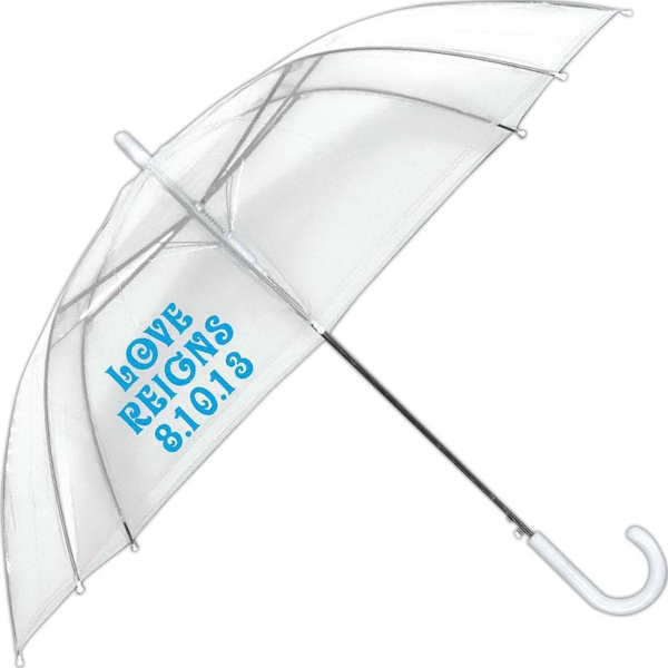 Personalized Bubble Collection Clear Automatic Open Umbrella