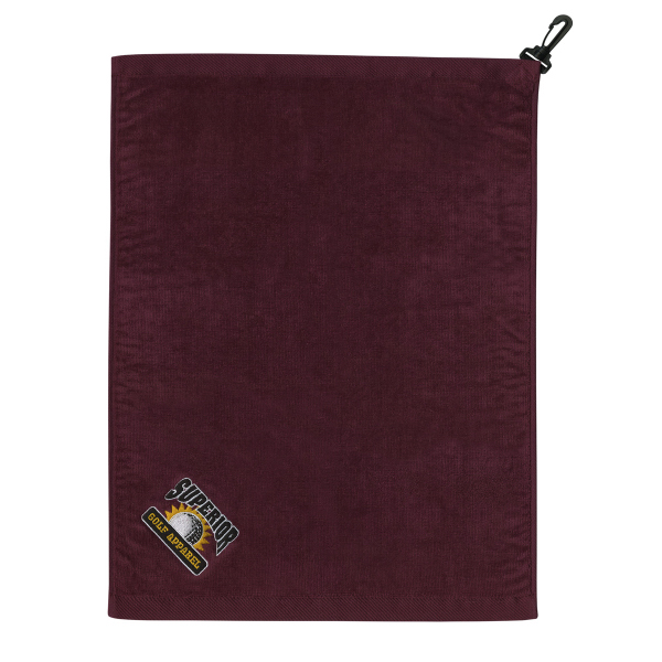 Promotional Traditional Flat Cotton Velour Golf Towel