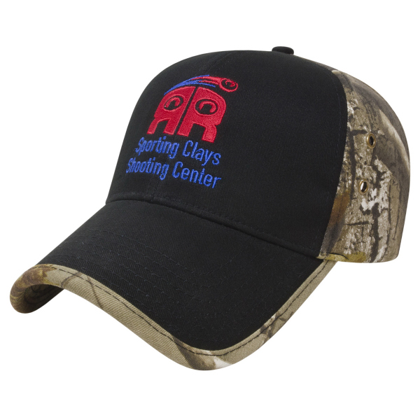 Personalized Solid Front Camo Back Cap