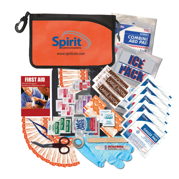 Imprinted Super Organized First Aid Kit