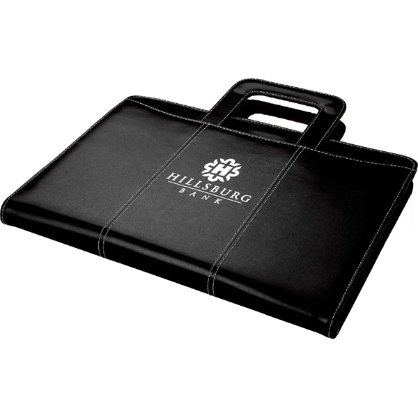 Custom Zippered leatherette 3-ring binder