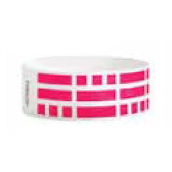 Personalized Blue Checker Wristband