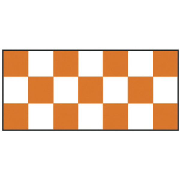Custom Orange Checker Wristband