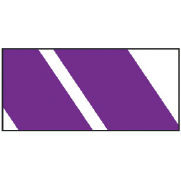 Imprinted Purple Stripes Wristband