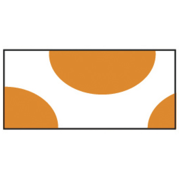 Printed Orange Half Circles Wristband