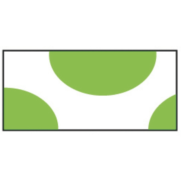 Printed Green Half Circles Wristband
