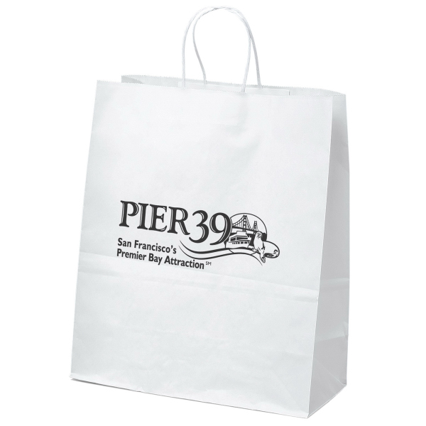 Personalized Citation Shopper White Kraft Bag