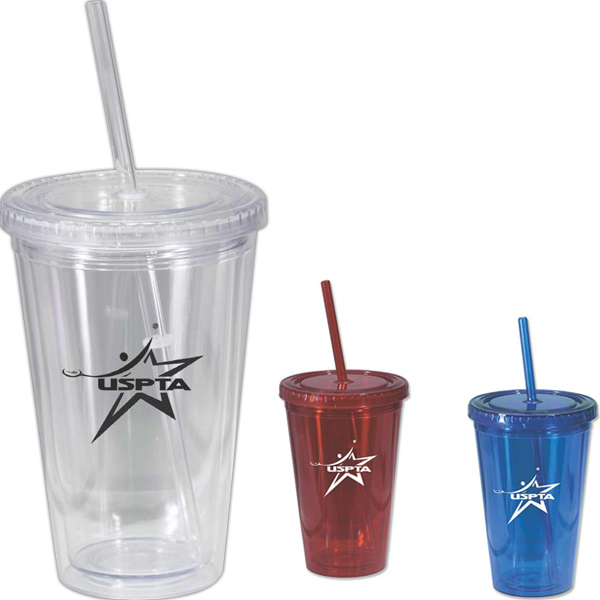 Imprinted On the Go Acrylic Tumbler, 16 oz