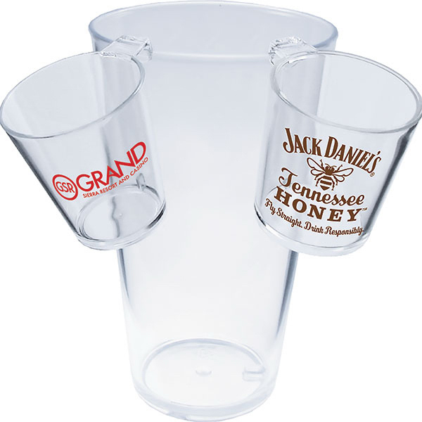 Personalized 1.5oz Hook Shot Glass