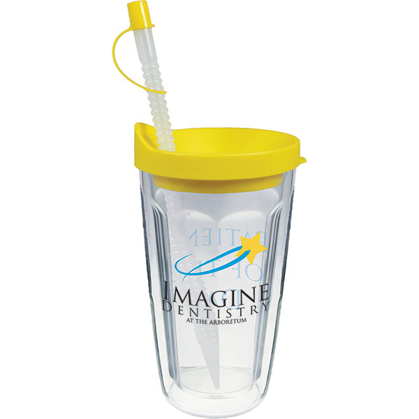 Imprinted 16oz Thermal Travel Tumbler with Lid