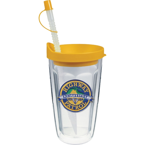 Custom 16oz Thermal Travel Tumbler with Emblem
