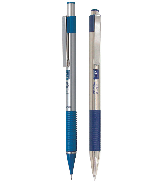 Printed Pen/Pencil Set Blue