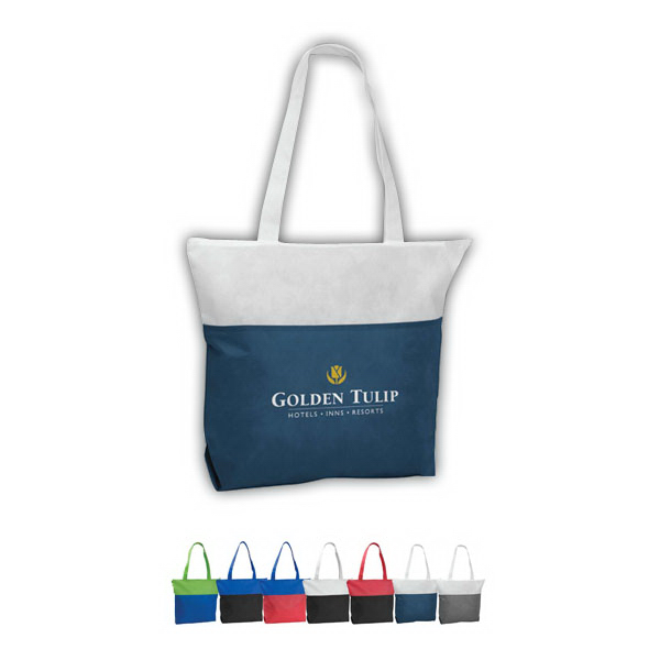 Customized Poly Pro Two-Tone Zippered Tote