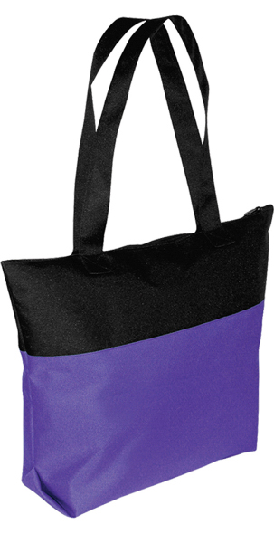 Custom Two-Tone Zipper Tote