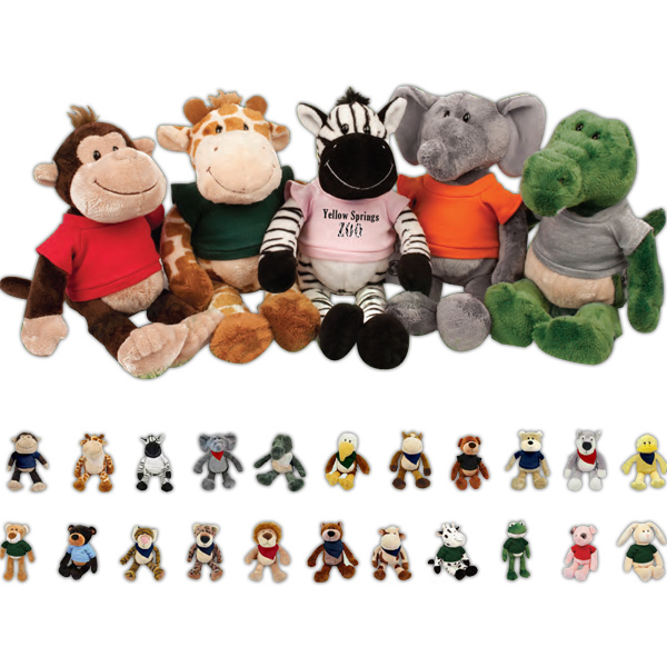 Personalized Plush Wild Bunch Animals