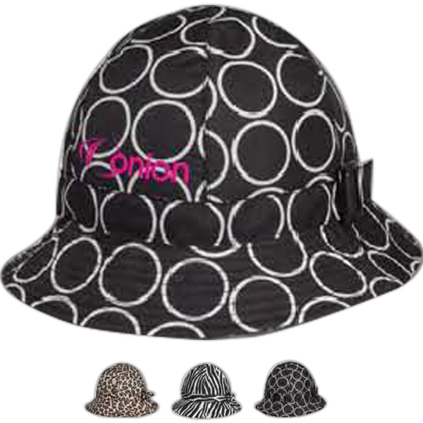 Printed Totes (R) Fashion Printed Bucket Rain Hat