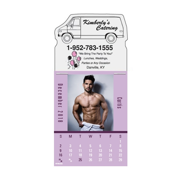 Personalized Male Call Magna-Stick (TM) Calendar