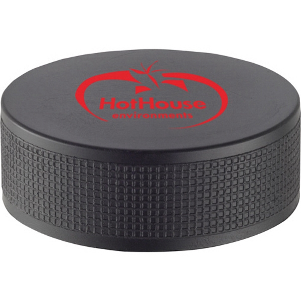 Imprinted Hockey puck stress reliever