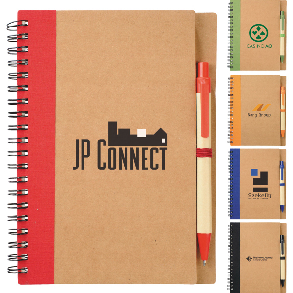Personalized The Eco Spiral Notebook and Pen