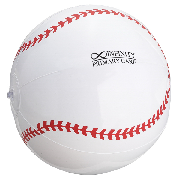 "Imprinted 14"" Baseball Beach Ball"