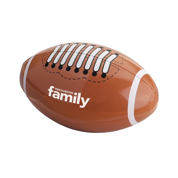 "Imprinted 14"" Football Beach Ball"