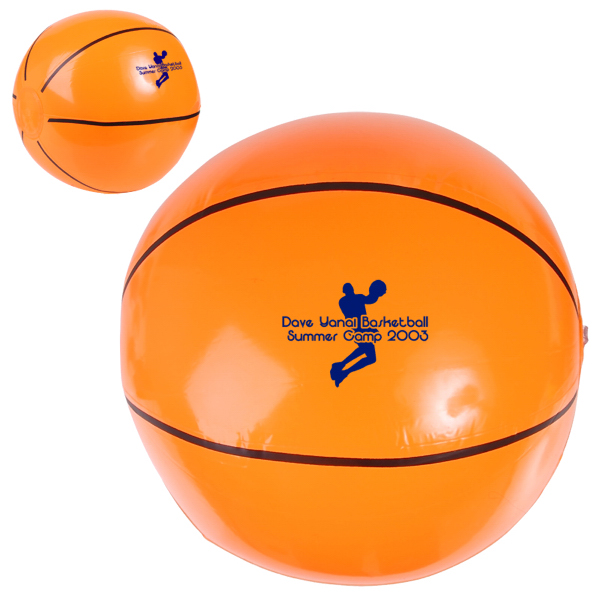 "Promotional 14"" Basketball Beach Ball"