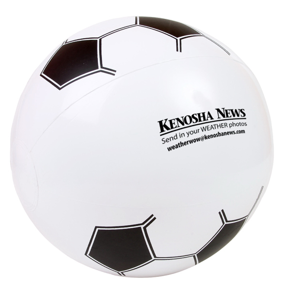 "Imprinted 14"" Soccer Beach Ball"