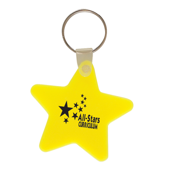 Printed Star Key Chain