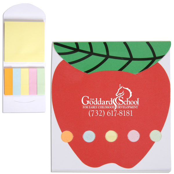 Personalized Pocket Sticky Note Memo Book - Apple