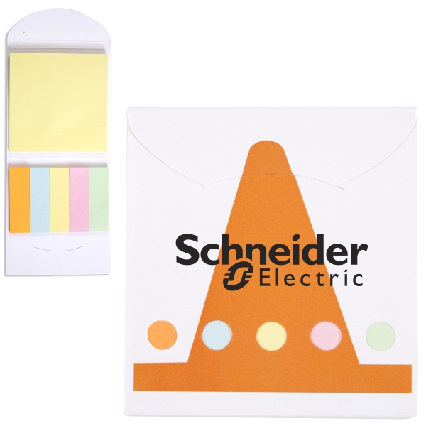 Customized Pocket Sticky Note Memo Book - Construction Cone