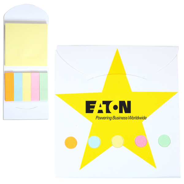 Personalized Pocket Sticky Note Memo Book - Star