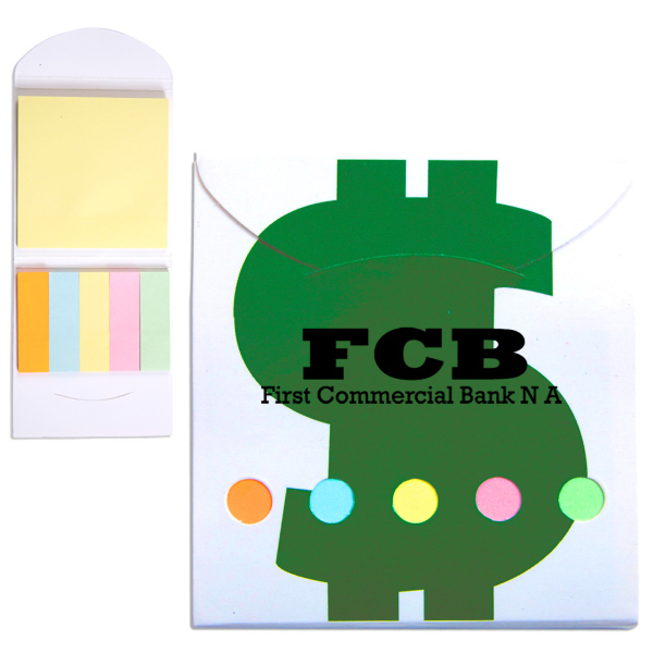 Promotional Pocket Sticky Note Memo Book - Financial