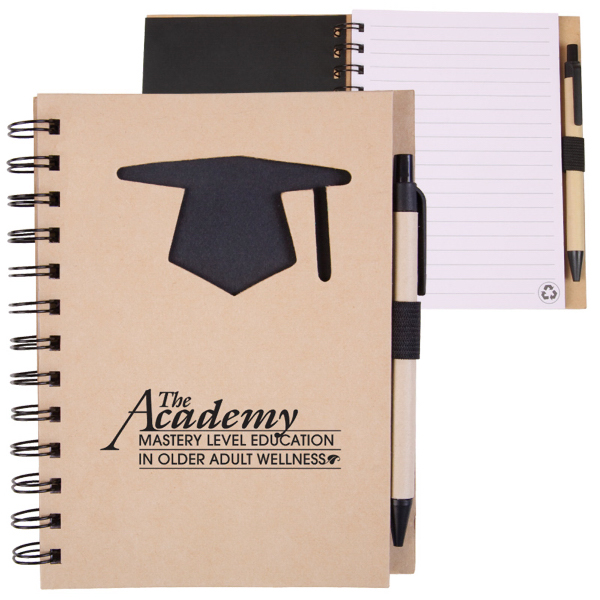 Printed EcoShapes (TM) Recycle Die Cut Notebook: Graduation