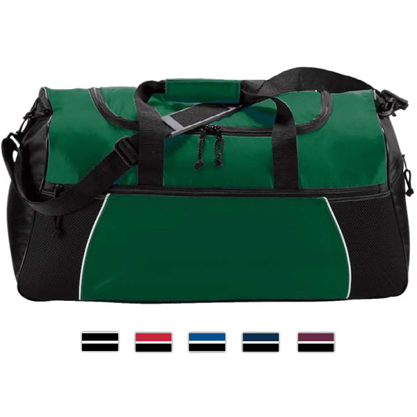 Promotional Tri-Color Duffel Bag
