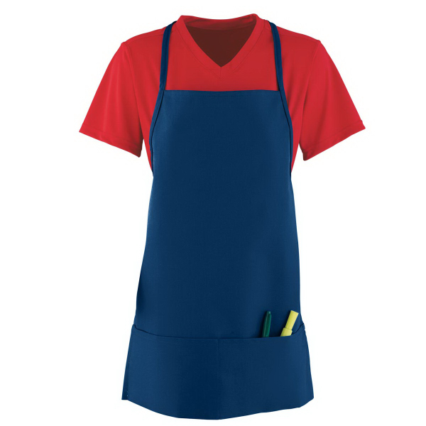 Printed Medium Apron With Pouch