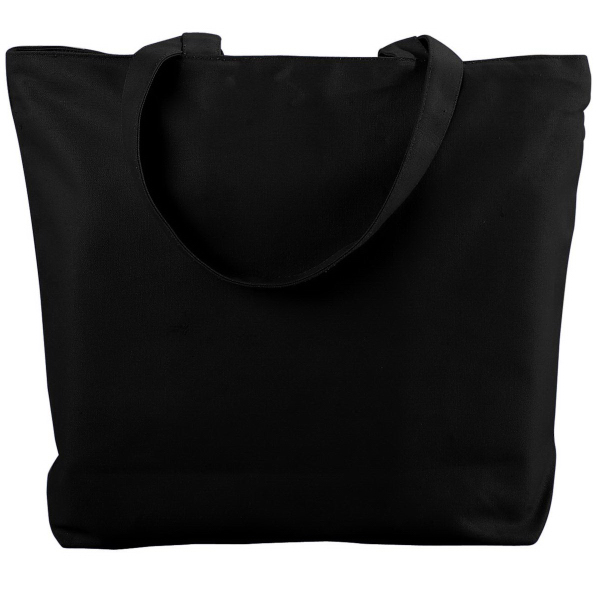 Promotional Canvas Zipper Tote