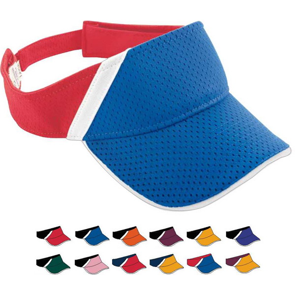 Custom Adult Athletic Mesh and Dazzle Stripe Visor