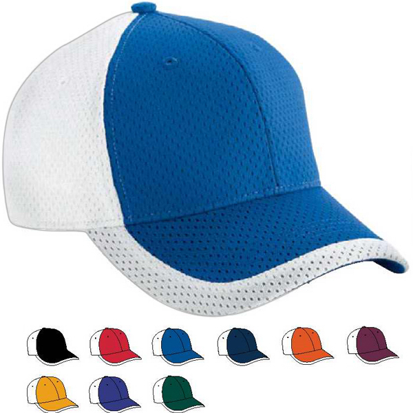 Printed Youth Color Block Athletic Mesh Cap