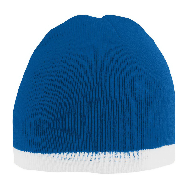 Personalized Two-Tone Knit Beanie