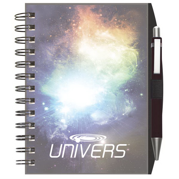 Custom ClearView (TM) NotePad with PenPort and Pen
