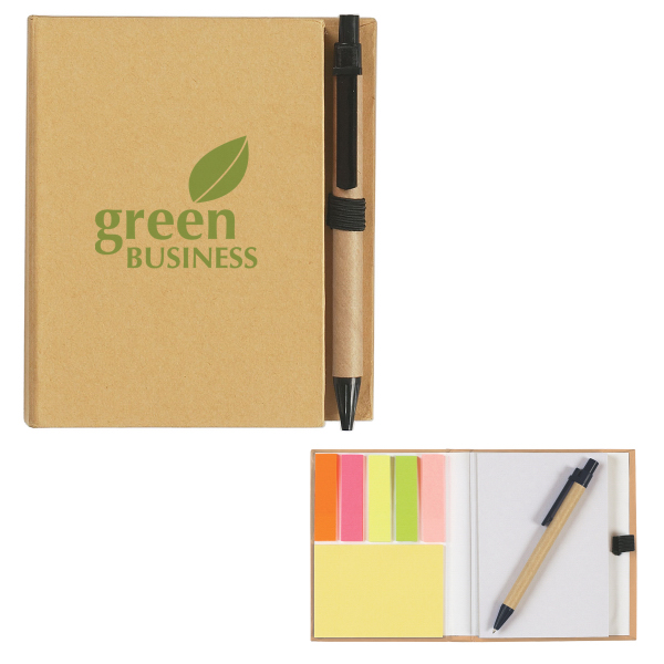 Printed Eco-Friendly Notebook With Pen