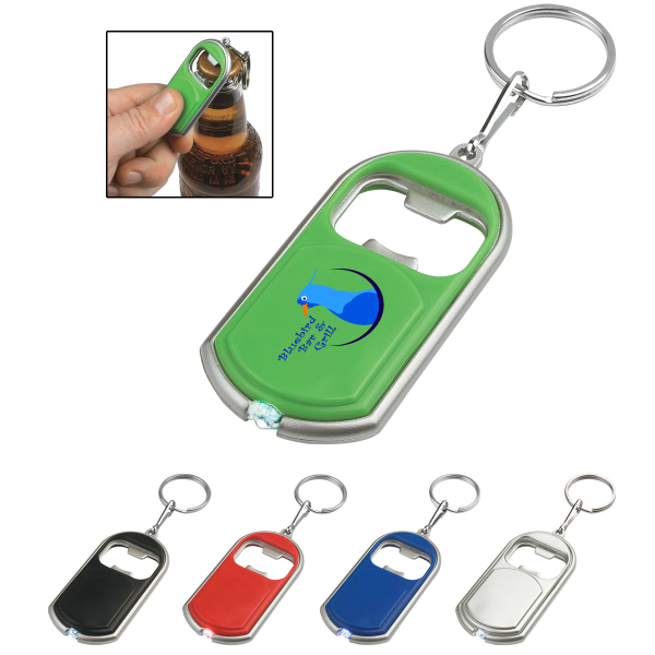 Personalized Bottle Opener Key Chain With LED Light