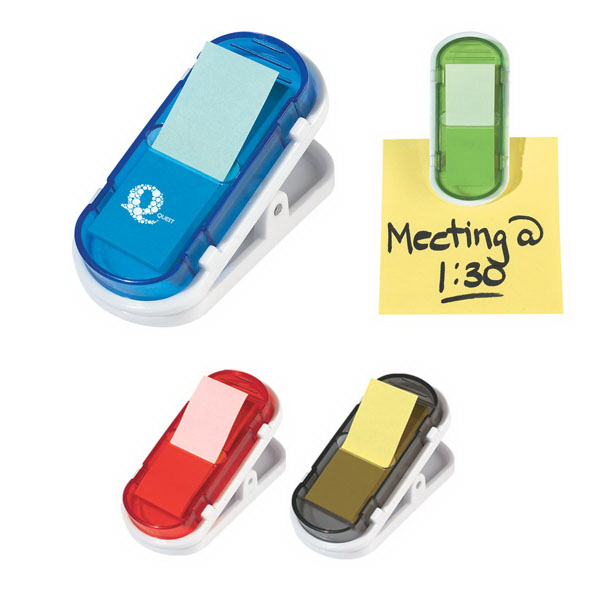 Imprinted Clip With Sticky Flags