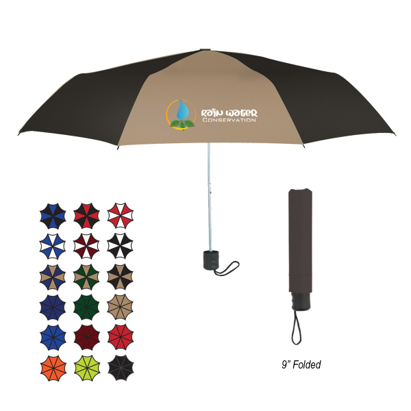 "Promotional 42"" Arc Budget Telescopic Umbrella"