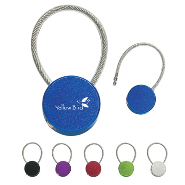 Printed Circular Metal Key Tag